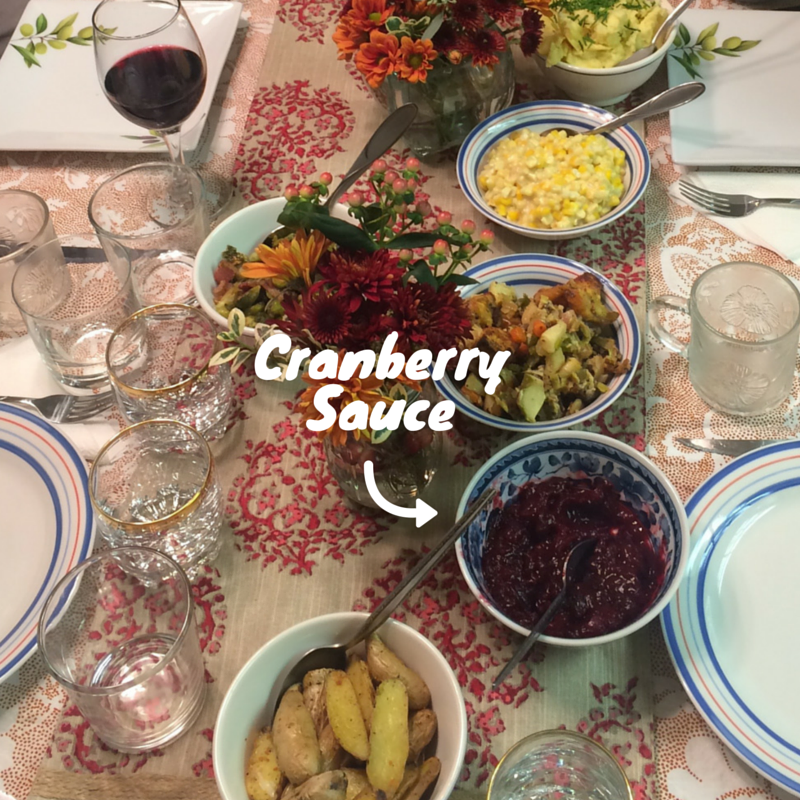 Perfect Cranberry Sauce, Tablescape