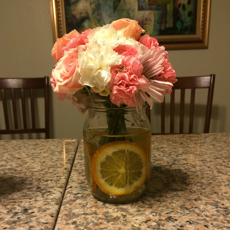 Summer Citrus Centerpiece at the ready