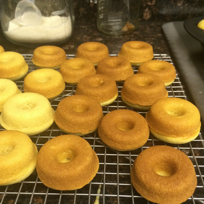 Pineapple Doughnuts cooling rack
